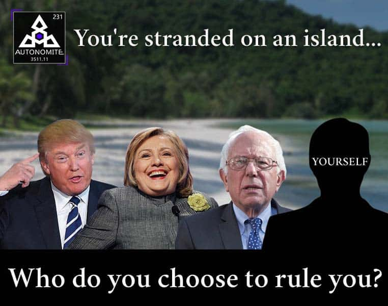 Autonomite Island Vote Meme